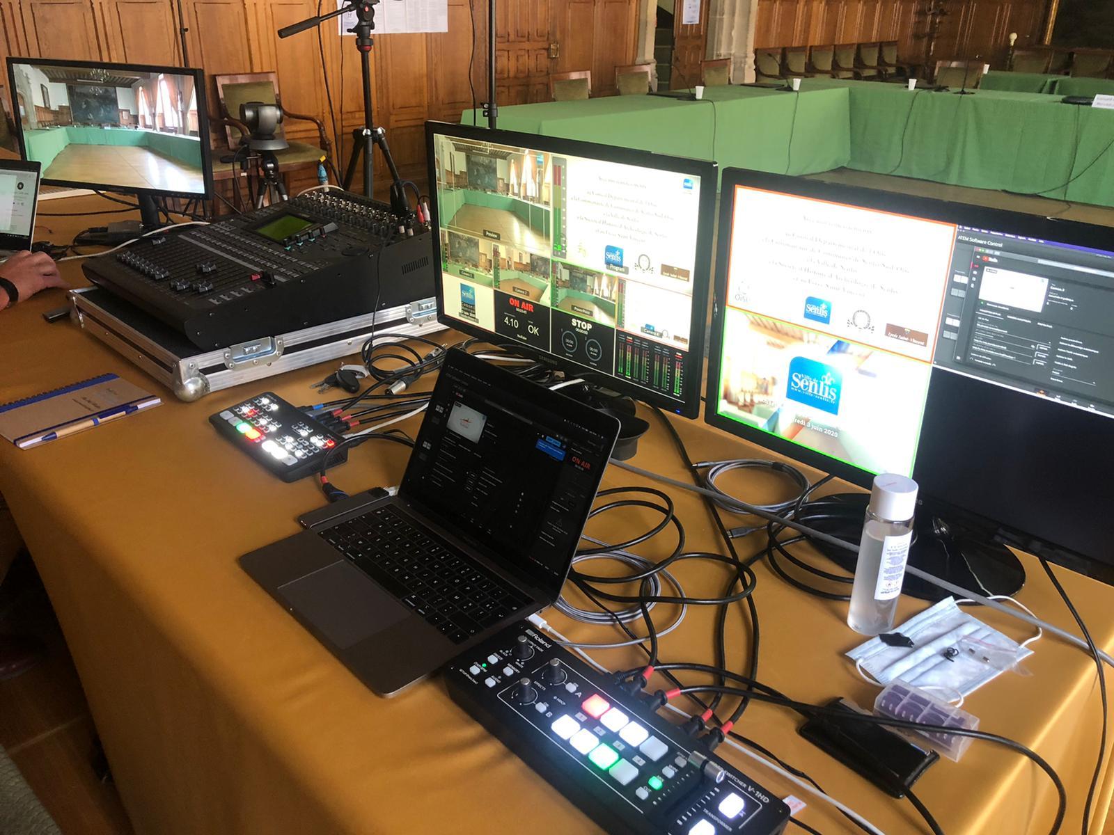 Prestation live video conseil municipal Senlis Oise
